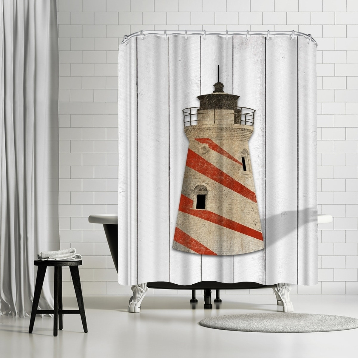 Americanflat Lighthouse Shower Curtain