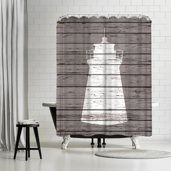 Shop Americanflat Wood Quad Lighthouse Shower Curtain