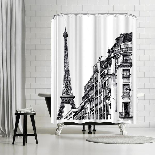 Shop Americanflat Paris Shower Curtain