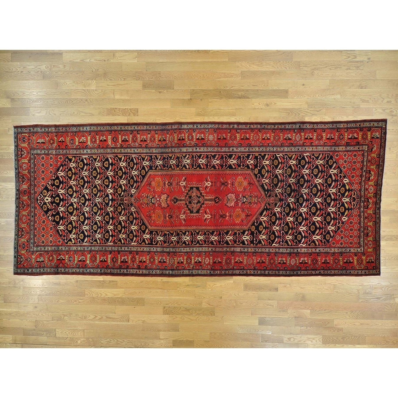 Hand Knotted Blue Antique with Wool Oriental Rug