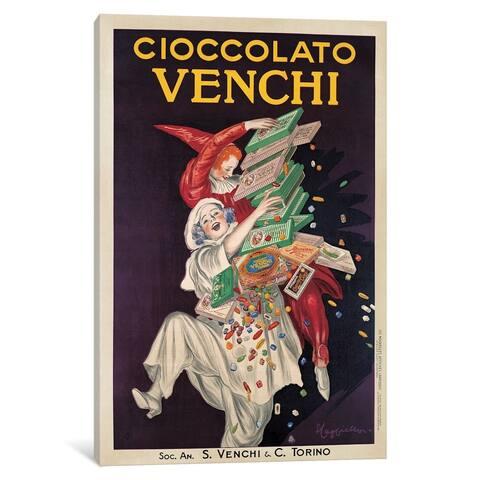 """iCanvas """"Cioccolato Venchi"""" by Leonetto Cappiello Canvas Print"""