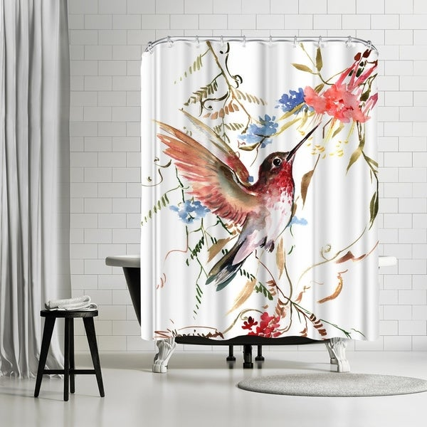 Americanflat U0027Hummingbirdu0027 Shower Curtain