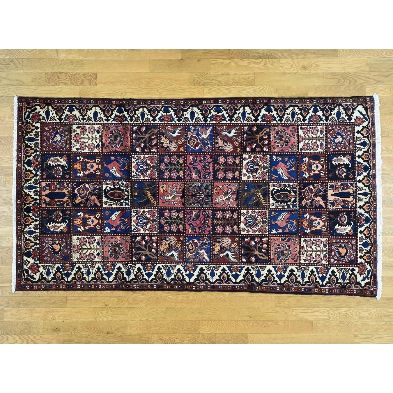 Hand Knotted Multicolored Persian with Wool Oriental Rug - 54 x 910