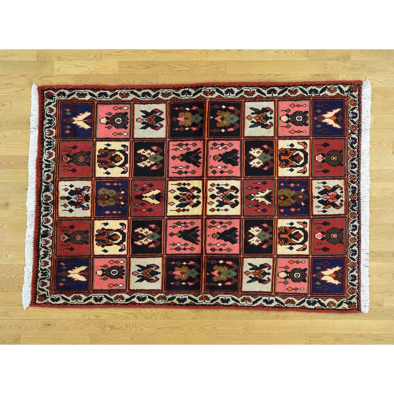 Hand Knotted Multicolored Persian with Wool Oriental Rug - 47 x 66