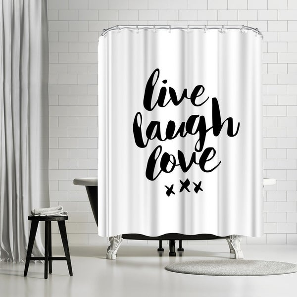 Shop Americanflat \'Live Laugh Love\' Shower Curtain - On Sale - Free ...