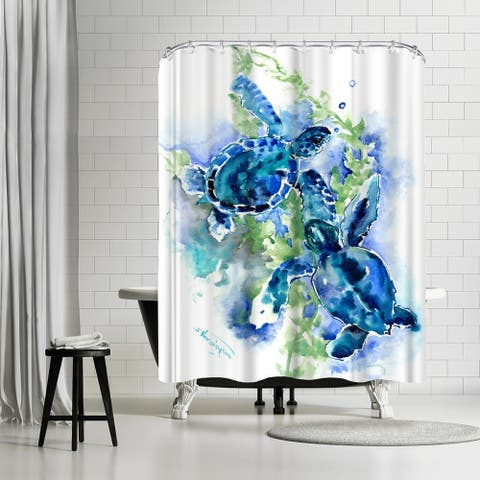 Americanflat 'Sea Turtles 1' Shower Curtain