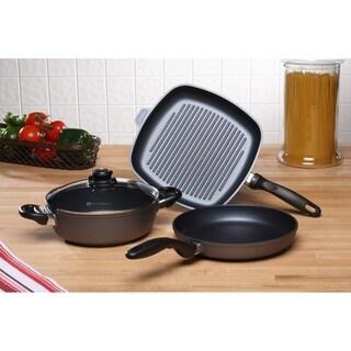 Swiss Diamond HD 4 Piece Set: Fry Pan, Casserole, and Grill Pan