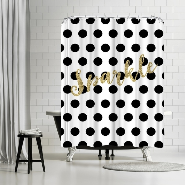 Shop Americanflat Sparkle Gold Glitter Dots Shower Curtain