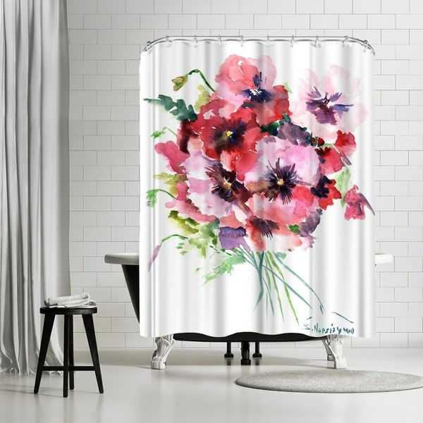 Americanflat Pansies Shower Curtain