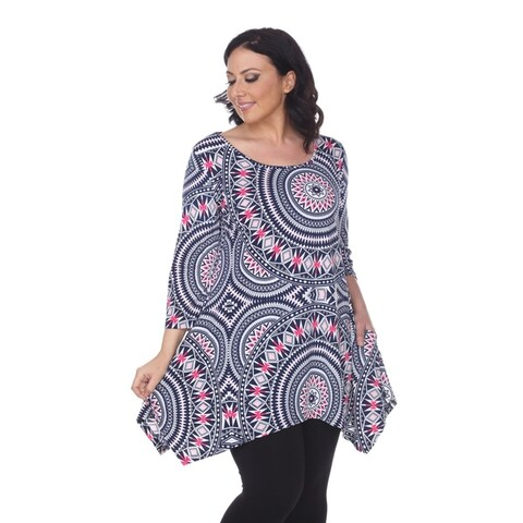 White Mark Women's Plus Size 'Maji' Tunic