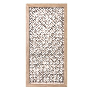 Wiley Brown and Clear Dimensional Wall Art