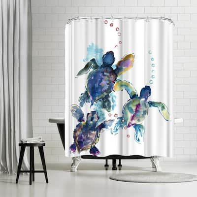 Americanflat 'Baby Sea Turtles 3' - Shower Curtain