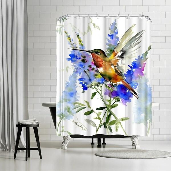 Shop Americanflat Alens Hummingbird Shower Curtain