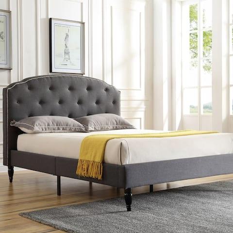 Classic Brands Cranleigh Upholstered Platform Bed Frame