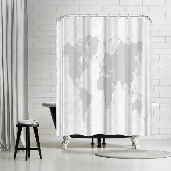 Shop Americanflat Intricate World Map Shower Curtain On Sale
