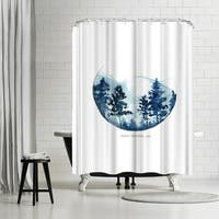 Americanflat 'Blue Mountain' Shower Curtain