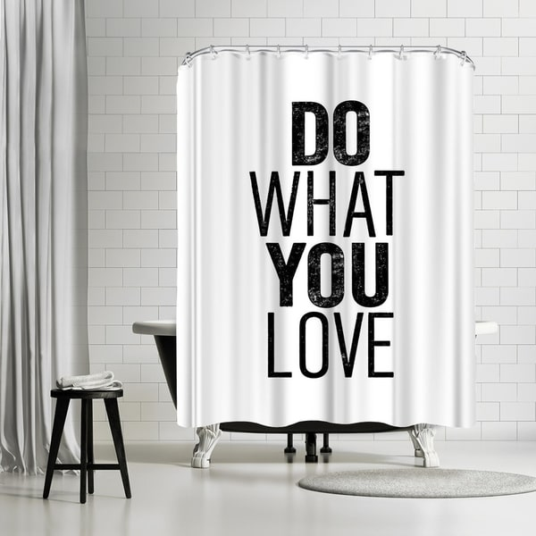 Shop Americanflat Do What You Love Shower Curtain