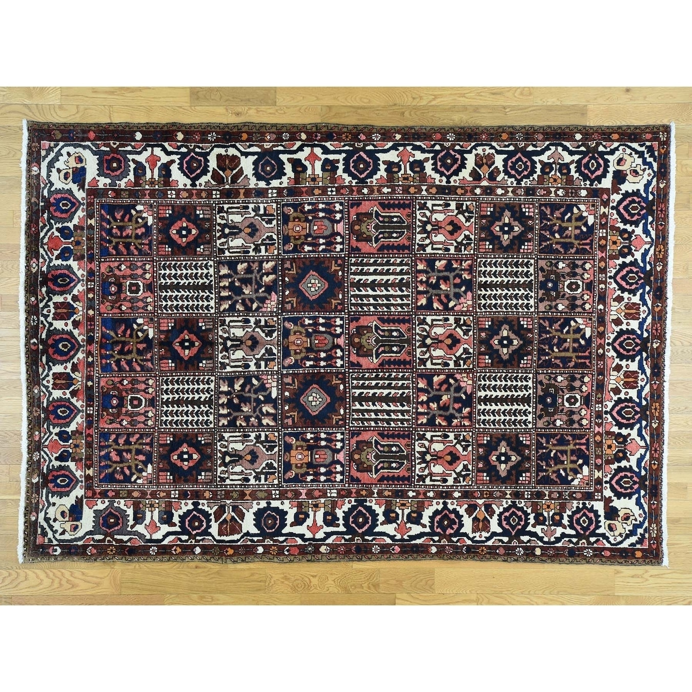 Hand Knotted Multicolored Persian with Wool Oriental Rug - 7 x 105