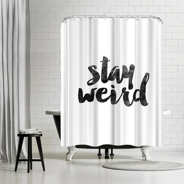 Shop Americanflat Stay Weird Shower Curtain