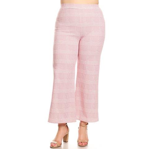 Women's Plus Size Plaid Pattern Pants