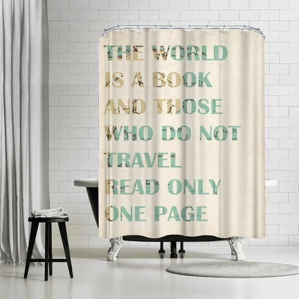Shop Americanflat The World Is A Book Shower Curtain