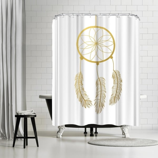 Shop Americanflat Dreamcatcher Gold Foil Shower Curtain