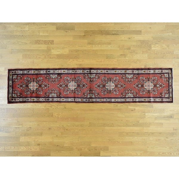 Hand Knotted Red Clearance with Wool Oriental Rug
