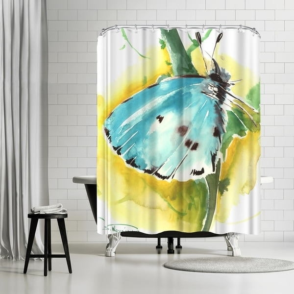Americanflat Holly Blue Butterfly Shower Curtain