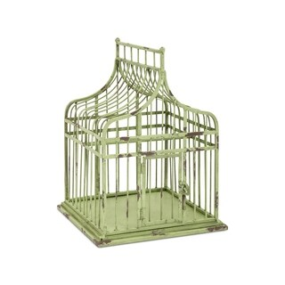 Lulu Rustic Green Small Bird Cage