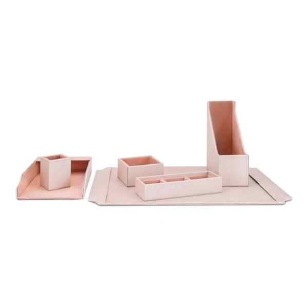 Beth Kushnick Pink Desk Set in Gift Boxes (Set of 6)