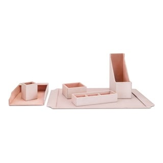Beth Kushnick Pink Desk Set in Gift Boxes (Set of 6)