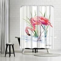 Americanflat 'Flamingo 4' Shower Curtain