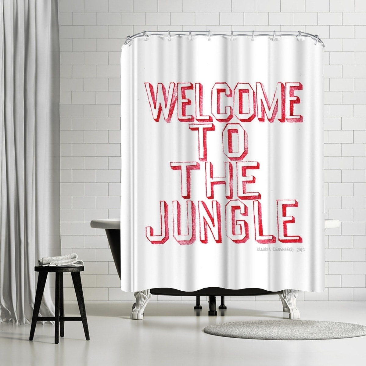 Americanflat Welcome Shower Curtain