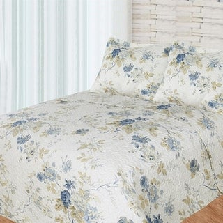 Patch Magic Luxury King Blue Roses Bed in a Bag Set