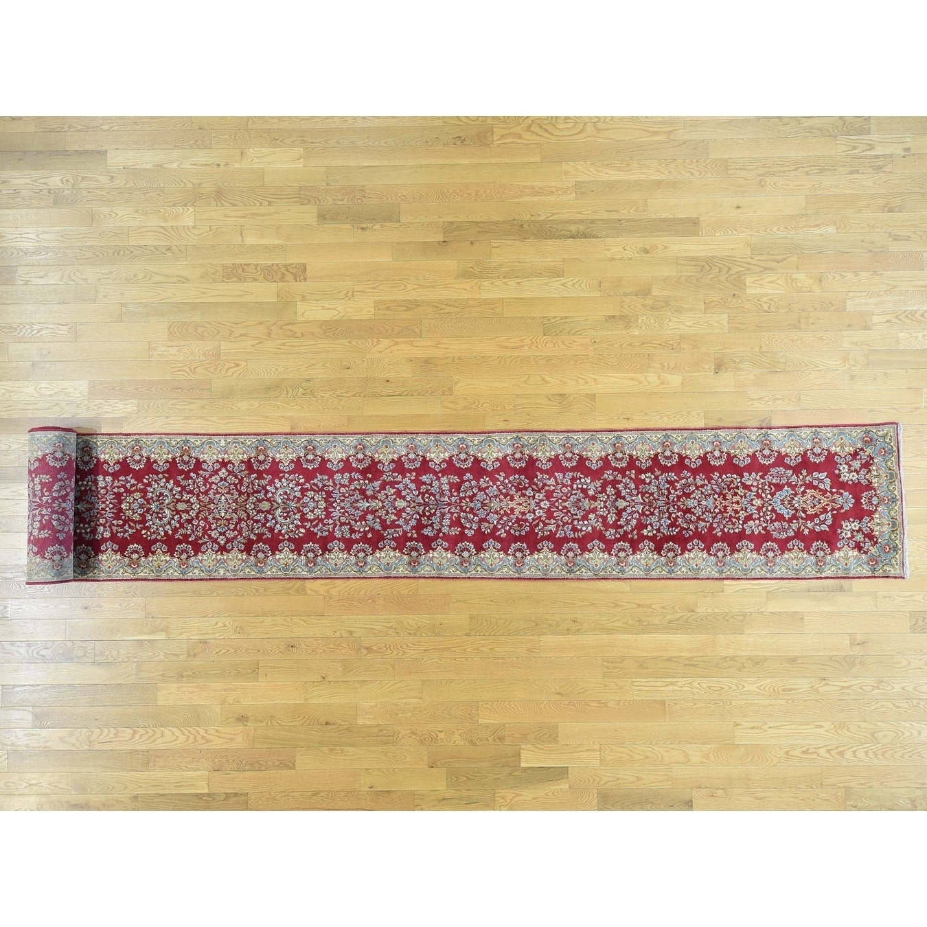 Hand Knotted Red Persian with Wool Oriental Rug