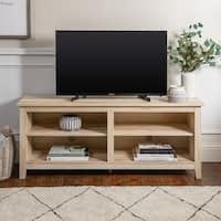 58 Inch Rustic Farmhouse Wood TV Media Stand Console