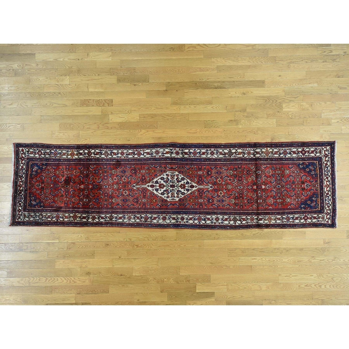 Hand Knotted Red Persian with Wool Oriental Rug - 37 x 1310