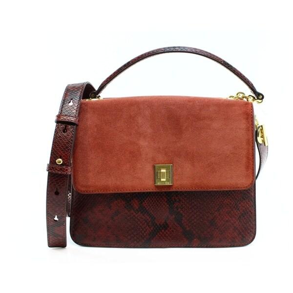 956d99d0bc51 Shop MICHAEL KORS Natalie Luxe Embossed Large Red Brick Satchel - L ...