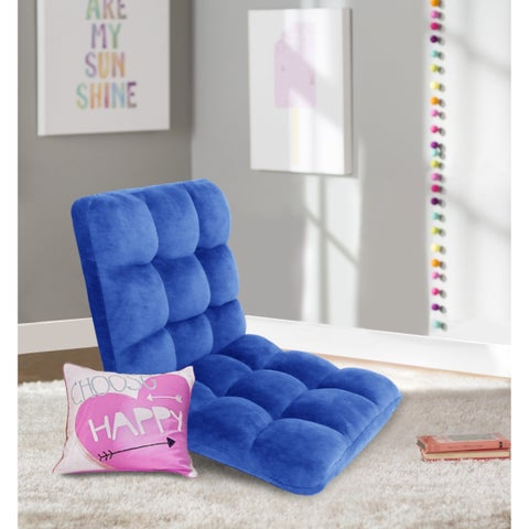 Chic Home Esme Adjustable Recliner Floor Gaming Chair, Royal Blue