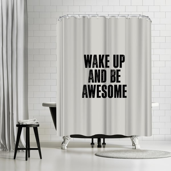 Shop Americanflat Wake Up And Be Awesome Shower Curtain