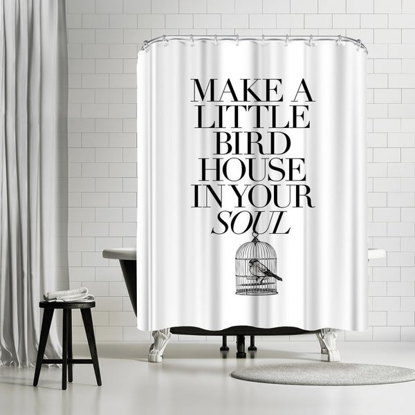 Shop Americanflat Make A Little Birdhouse Shower Curtain
