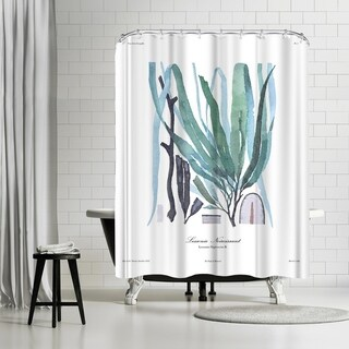 Americanflat 'French Kelp Blue' Shower Curtain
