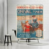 Americanflat 'Vintage French Beach Travel Poste' Shower Curtain