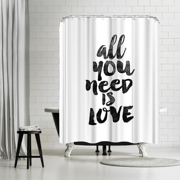 Shop Americanflat All You Need Is Love Shower Curtain