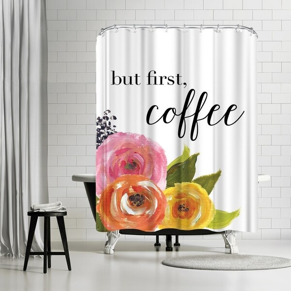 Americanflat But First Coffee Shower Curtain
