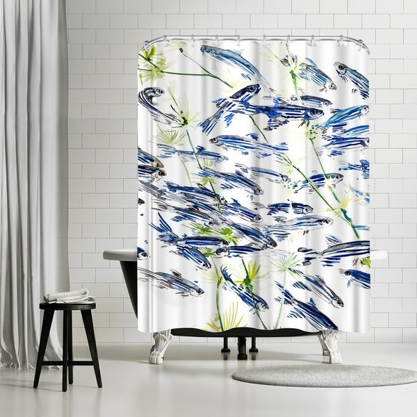 Shop Americanflat Danio Fish Zebra Shower Curtain