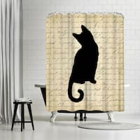 Americanflat 'Dictionary Cat' Shower Curtain