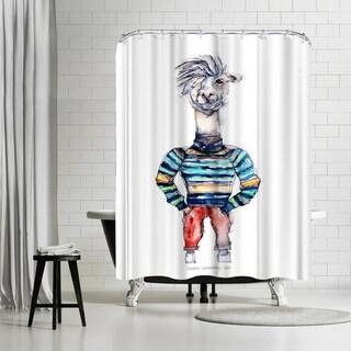 Americanflat Nigel The Llama Shower Curtain