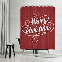 Americanflat 'Merry Christmas Crimson Jpg' Shower Curtain