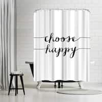 Americanflat 'Choose Happy Bw' Shower Curtain